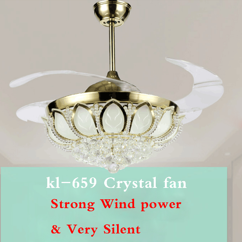 kl-659 42 Inch Ceiling Fan Household Fan Lamp European Modern Simple Variable fan Light Remote Control 220v 1 Lights 5 Blades