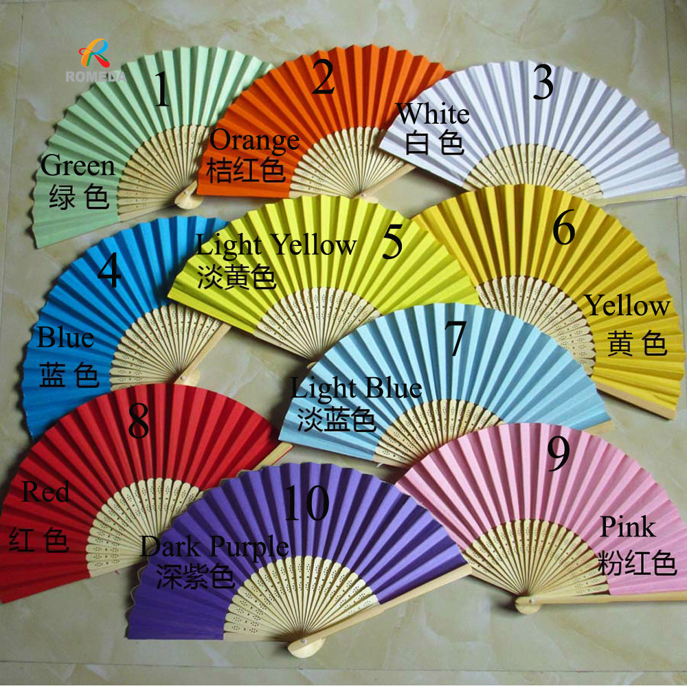 Free Shipping 50pcs/Lot ,Wedding Hand Fan Chinese Hand Fan For Party Decoration