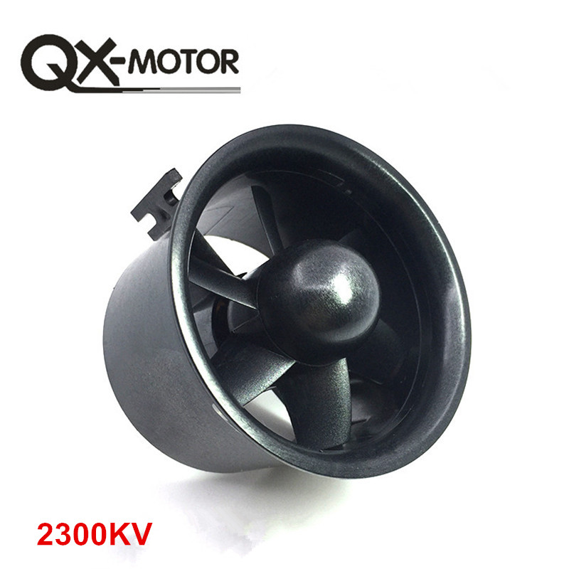 QX-MOTOR 1pcs Ducted 30mm/55mm/64mm/70mm/90mm EDF Kit with Fan Rotor
