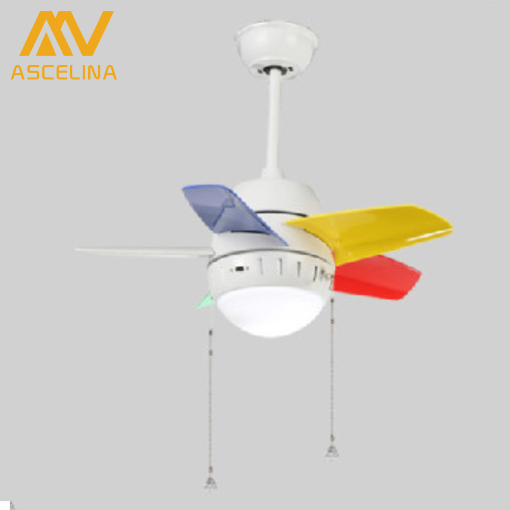 RO131 Cute Kids' room Ceiling Fans With Lights Mini 26 inches Fan lights Popular Kids' room LED Lamps