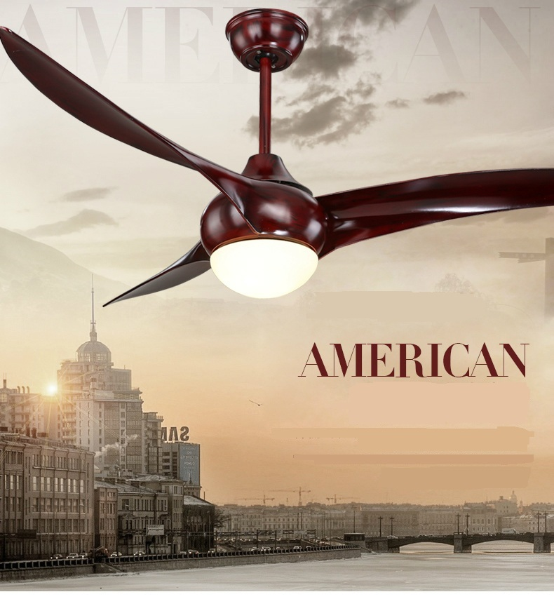 American dining room living room fan ceiling indoor modern ceiling fan light ceiling LED ceiling fans with remote control 52inch
