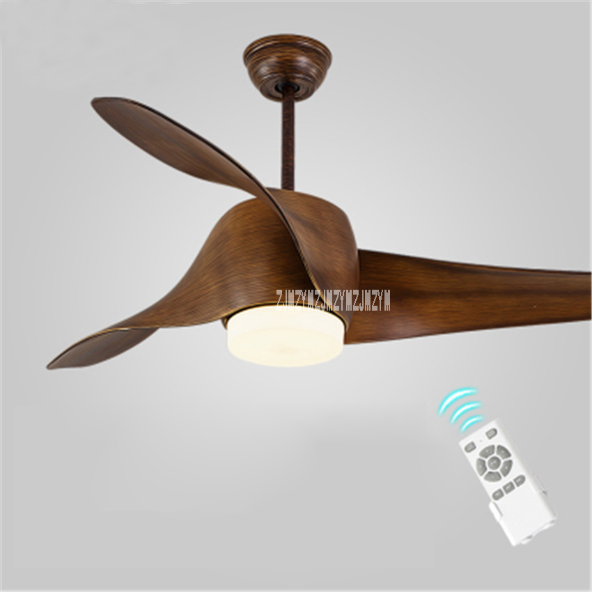New 52 Inch Variable Frequency Ceiling Fan Light Modern Fashion European Living Room LED Fan lamp 110-240V 15-75W