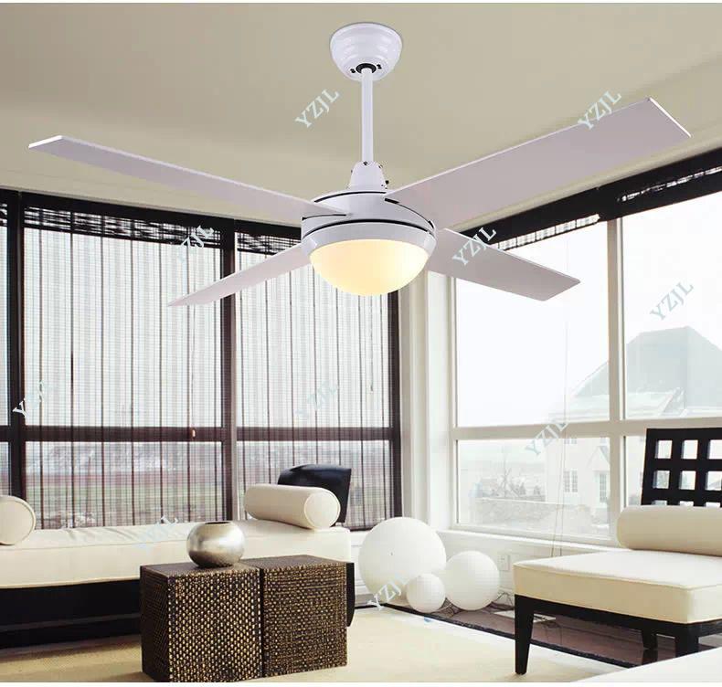 Generous Loft Fan Chandelier Retro Dining Room Household Electric Fan Mute Led Remote Leaf Fan Lamp Ceiling Lights & Fans