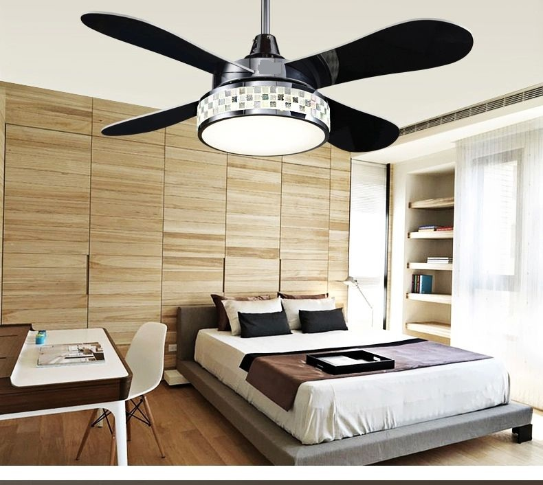 Four leaves of color change lamp fan ceiling fan lights LED continental living room bedroom dining room fan light ceiling 42inch