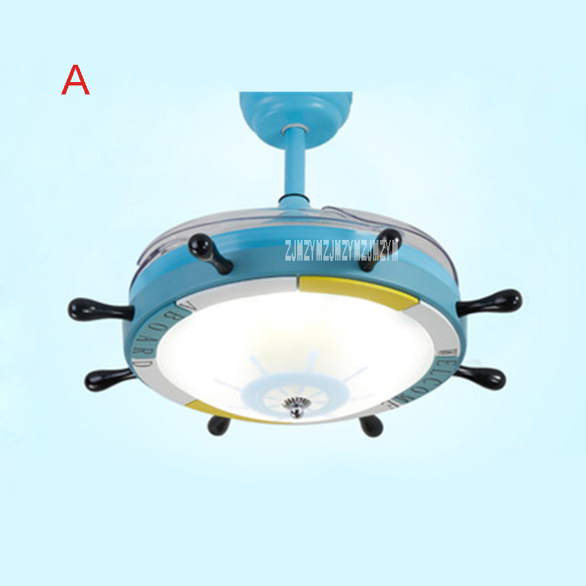 New 24W 220v 42SW-0004 Rudder Cartoon Child Ceiling Fan Bedroom Variable Light Variable Frequency Ceiling Fan + Remote Control