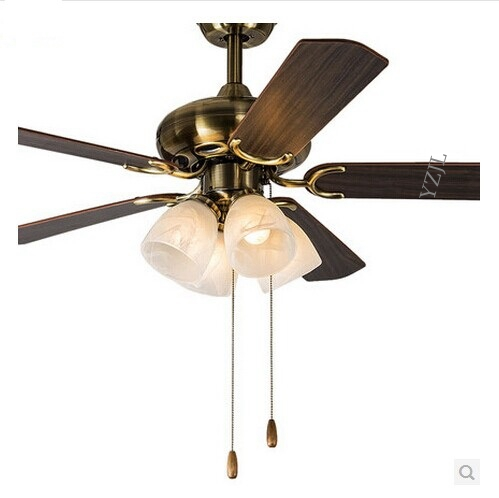 Antique decorative ceiling fan light dining room living room bedroom ceiling lights fan 47inch modern E27 lights fan light