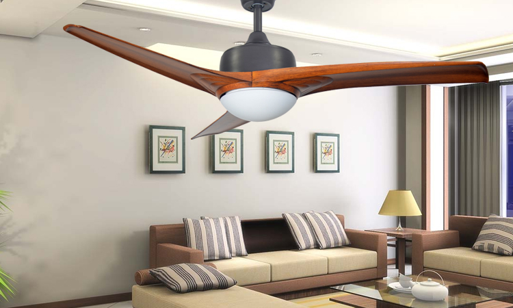 Vintage simple ceiling fan 52inch LED lamp dining room living room Western 3 ABS baldes bedroom silent fan light with controler