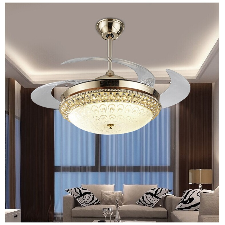Modern Dining Room LED 110-240 VCeiling Fan Lamp restaurant Kitchen Creative ceiling fan with lights Home Lighting Fixtures Lamp