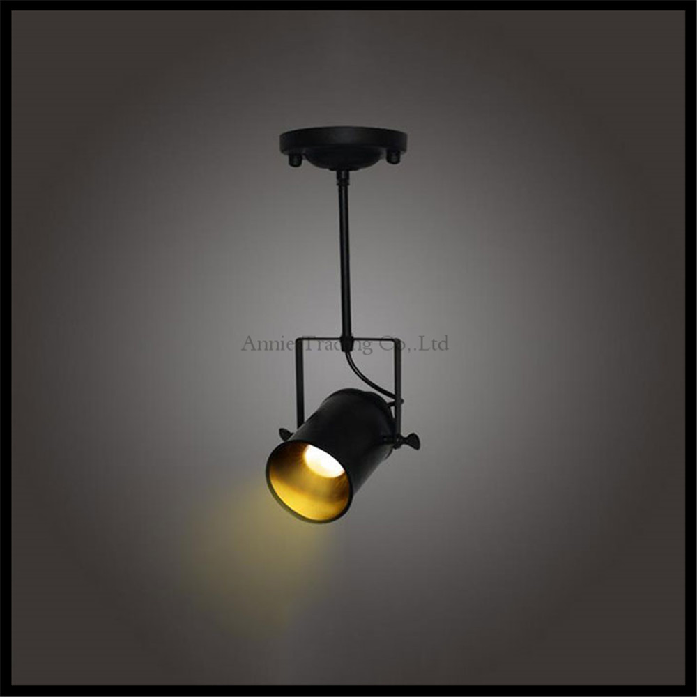 Industrial LOFT 5W cob led spotlights American style ceiling spotlight  rod Lighting  store project vintage ceiling spot lamp