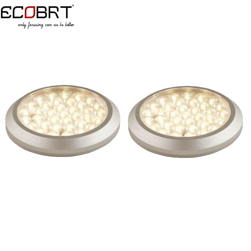 12v 3w aluminum Kitchen Under Cabinet LED Lights Surface Mounted Round Small 12 volts Downlights 2pcs/lot