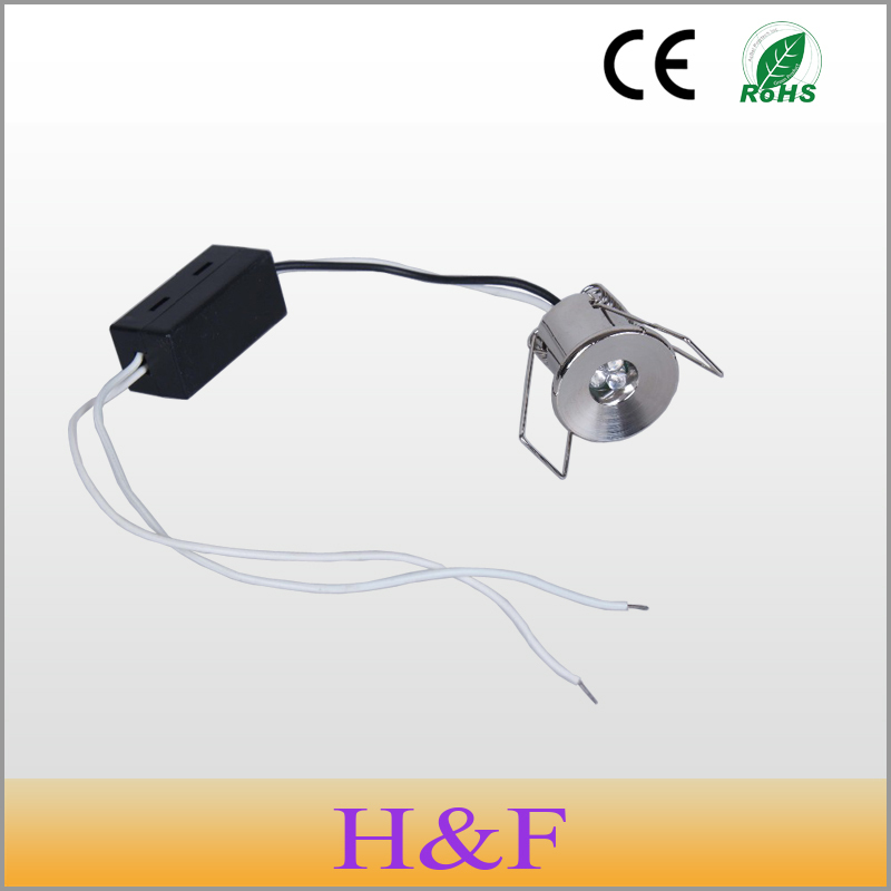 HoneyFly 10pcs/lot 1W 220v  Mini Led Cabinet Light LED Lamp Mini Led Downlight With Led Driver For Wine Cabinet Show Case