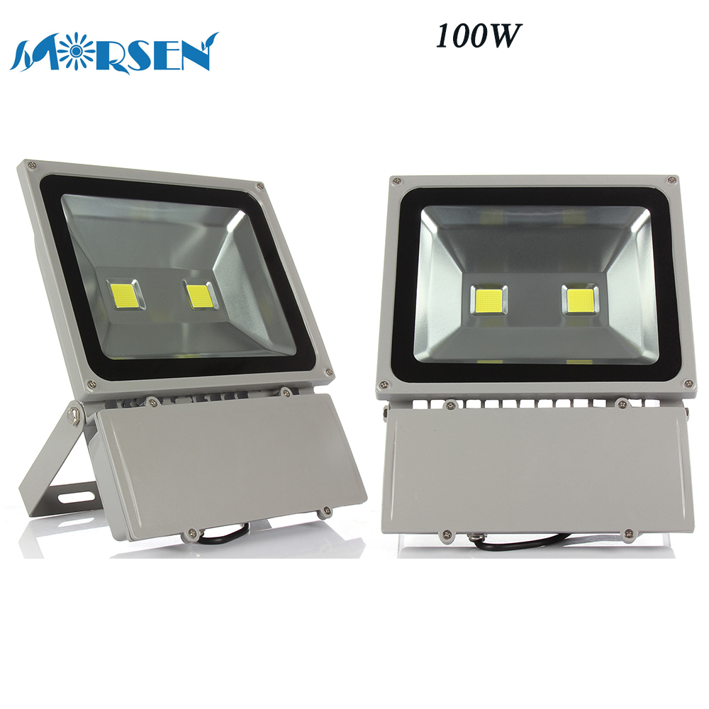 2pcs 100W LED Flood Light Waterproof Led Floodlight Spotlight For Garden Street Road Lamp Outdoor Reflector Led 110V 220V#17