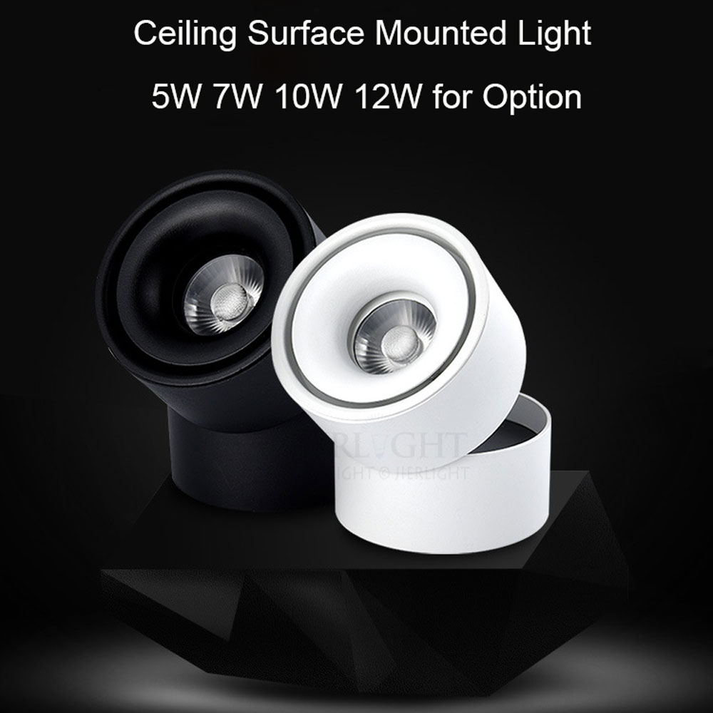 Free shipping 7W 10W 12W surface mounted ceiling spotlight 110-240V rail spotlight warm white for clothes shoes shop lighting