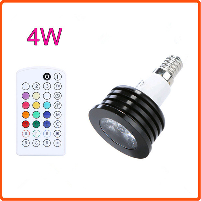 Music Control RGB LED E14 AC85-265V 4W mini screw base 2 Million Colors 120level brightness Memorize and Restore Function