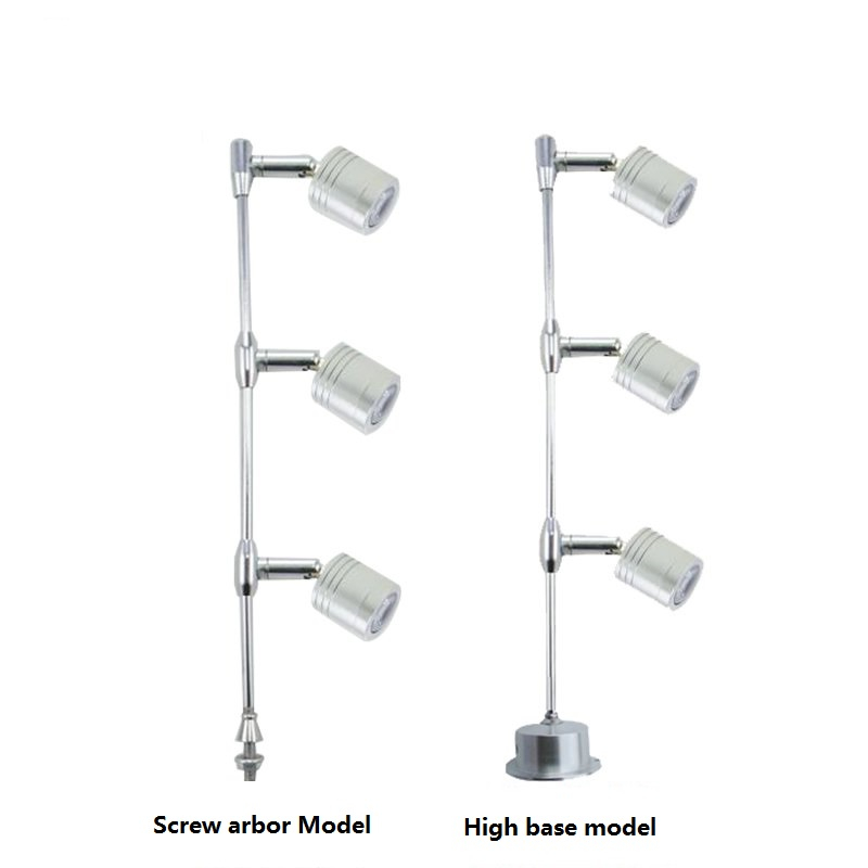 3 heads 3W led cabinet spot lamp ,85-265Vac led counter accent lighting for pearls and jewels ,gold ,showcase exhibition lamp