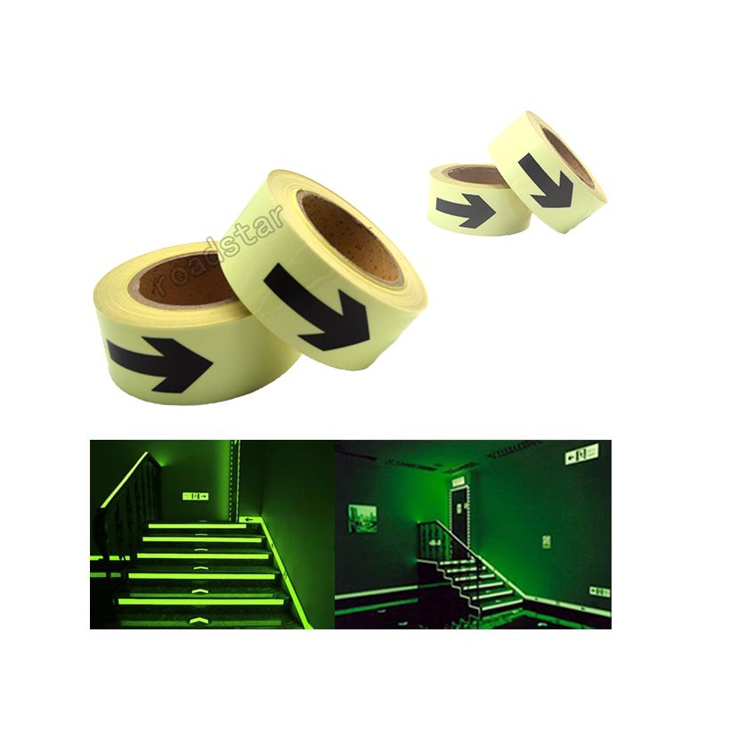 5CM X 5M Hot sell 5cm width glow in the dark tape lasting 4 hours Luminous film for safety