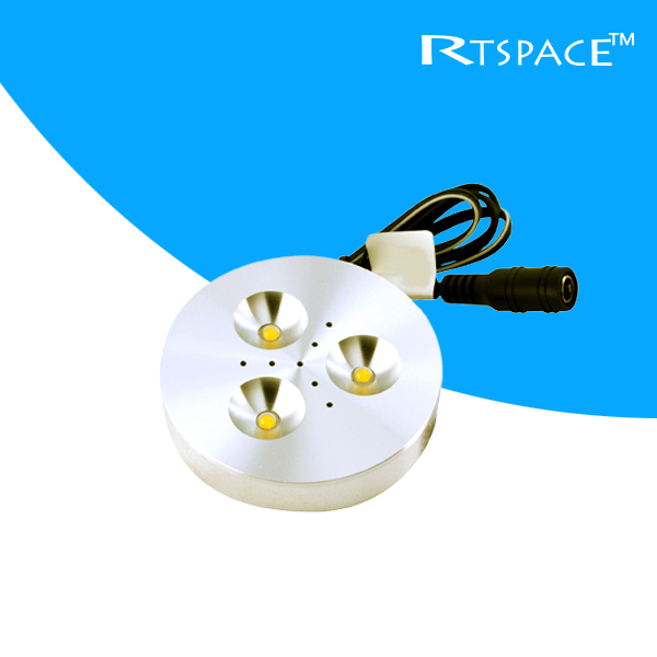 DHL 10PCS/LOTS input DC 12v 3W LED Puck/Cabinet Light,LED spotlight(non power),free shipping