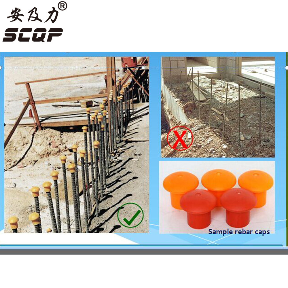 10-18MM Protective End Cap Plastic Cable Wire Thread Cover Steel Pole Tube Pipe Protecting Construction Reinforced Rebar Caps