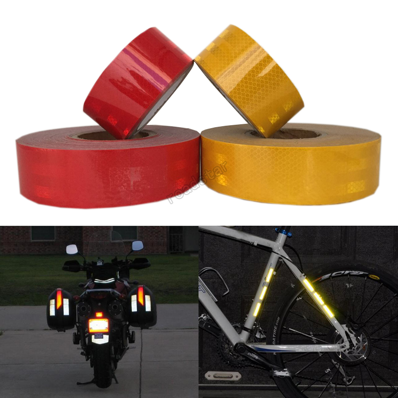 5CMx30M Reflective Tape Adhesive Stickers Decal Decoration Film Safety Motorcycle Stickers on school bus