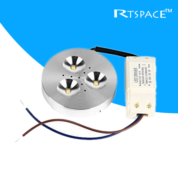 DHL 50PCS/LOTS  Input 85v-265V 3W LED Puck/Cabinet Light,LED spotlight, with led drive, free shipping 2years warranty