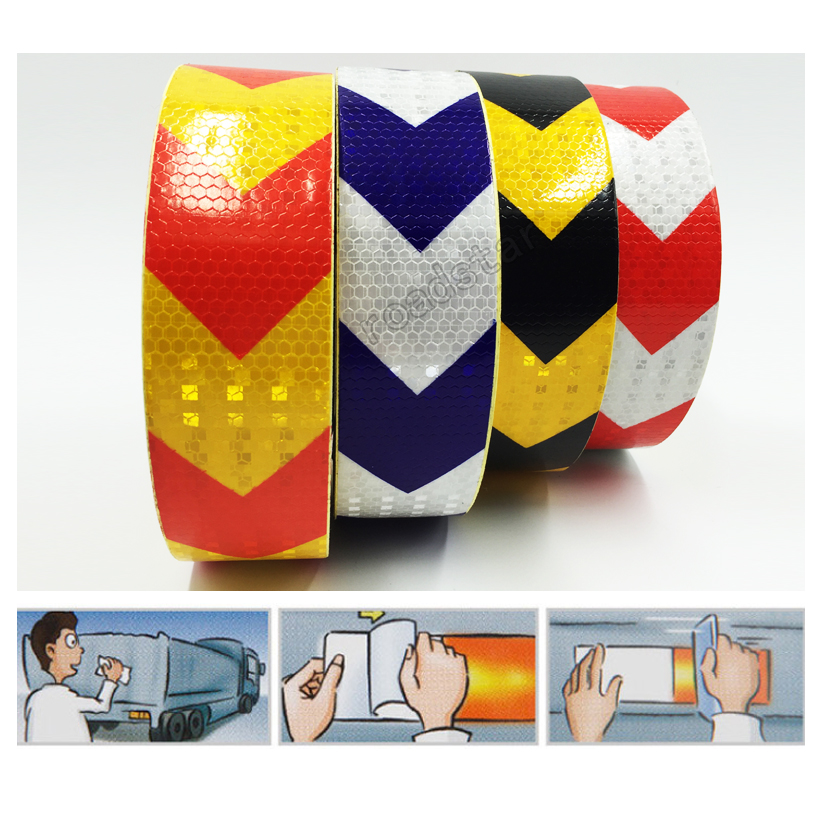 5cm*25m Reflective adhesive tape for car styling motorcycle decoration reflective warning tape