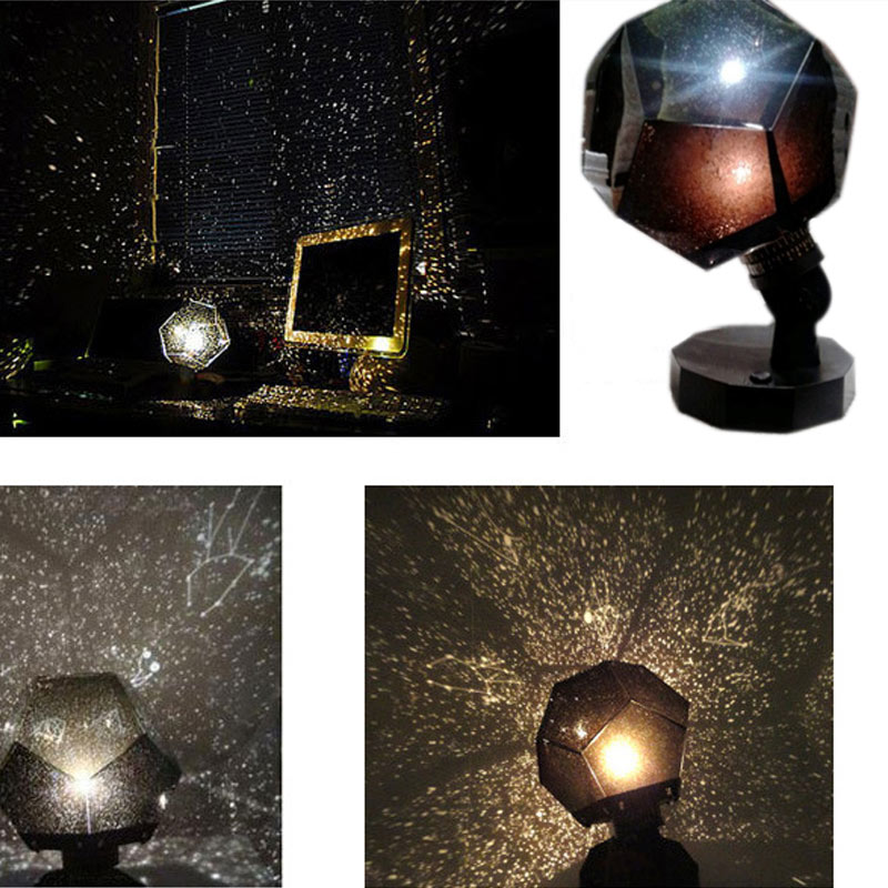 Romantic Star Projector Lamp Starry Sky Projection Cosmos For Bedroom Kids Children Baby Gift ALI88