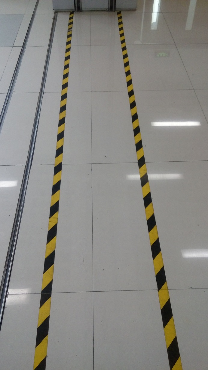 Corridor Door Factory Workshop Floor Safety Warning Self-adhesive Tape 5cm*17 meters
