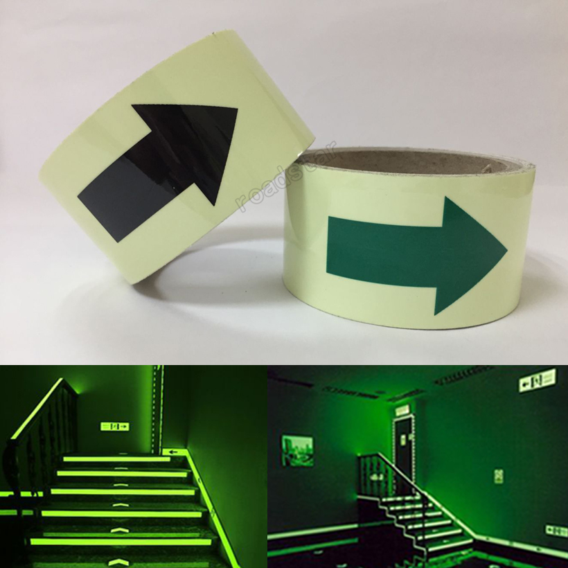 50mmX2m glow in the dark tape lasting 4 hours Luminous film for safety