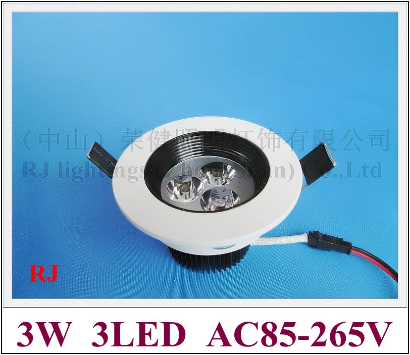 glare-proof high power LED ceiling light lamp 3W LED spot light glare-proof 3W AC85-265V 3 year warranty free shipping