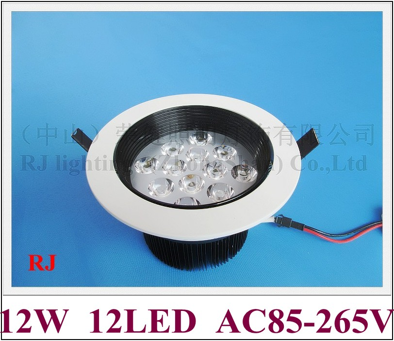 glare-proof high power LED ceiling light lamp 12W LED spot light glare-proof 12W AC85-265V 3 year warranty free shipping