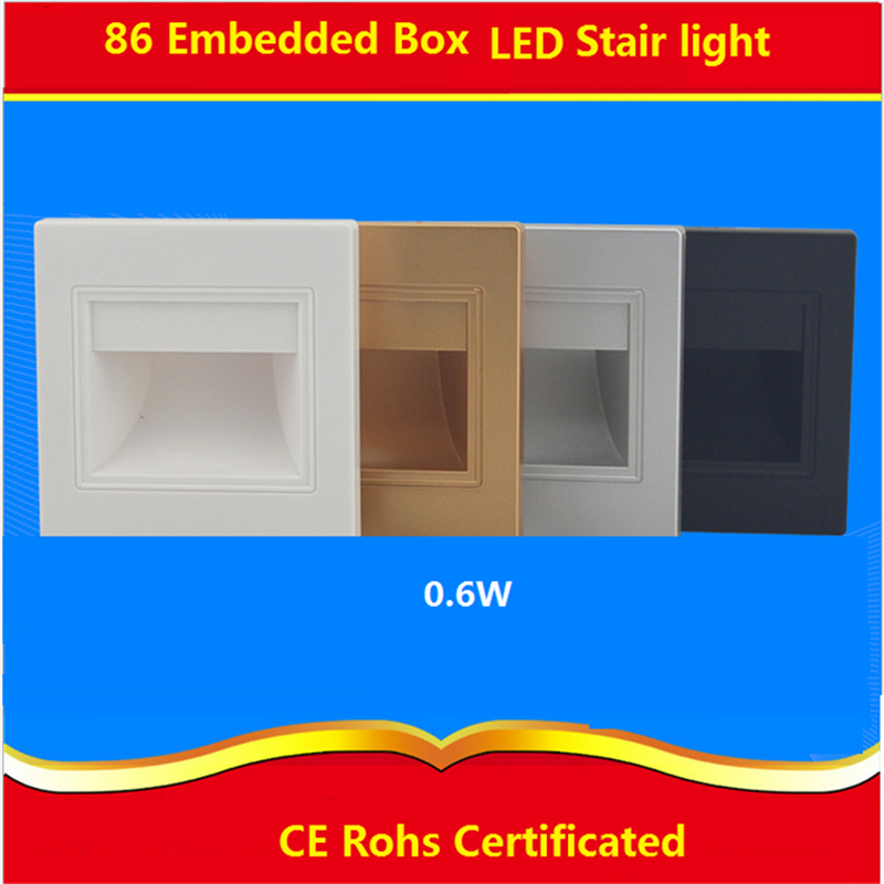 2pcs/lot 0.6W /1.5W/2.5W 85-265Vac led stair light ,Night Lamp for 86 box, led footlight for corridor,stairs,passway,bathroom