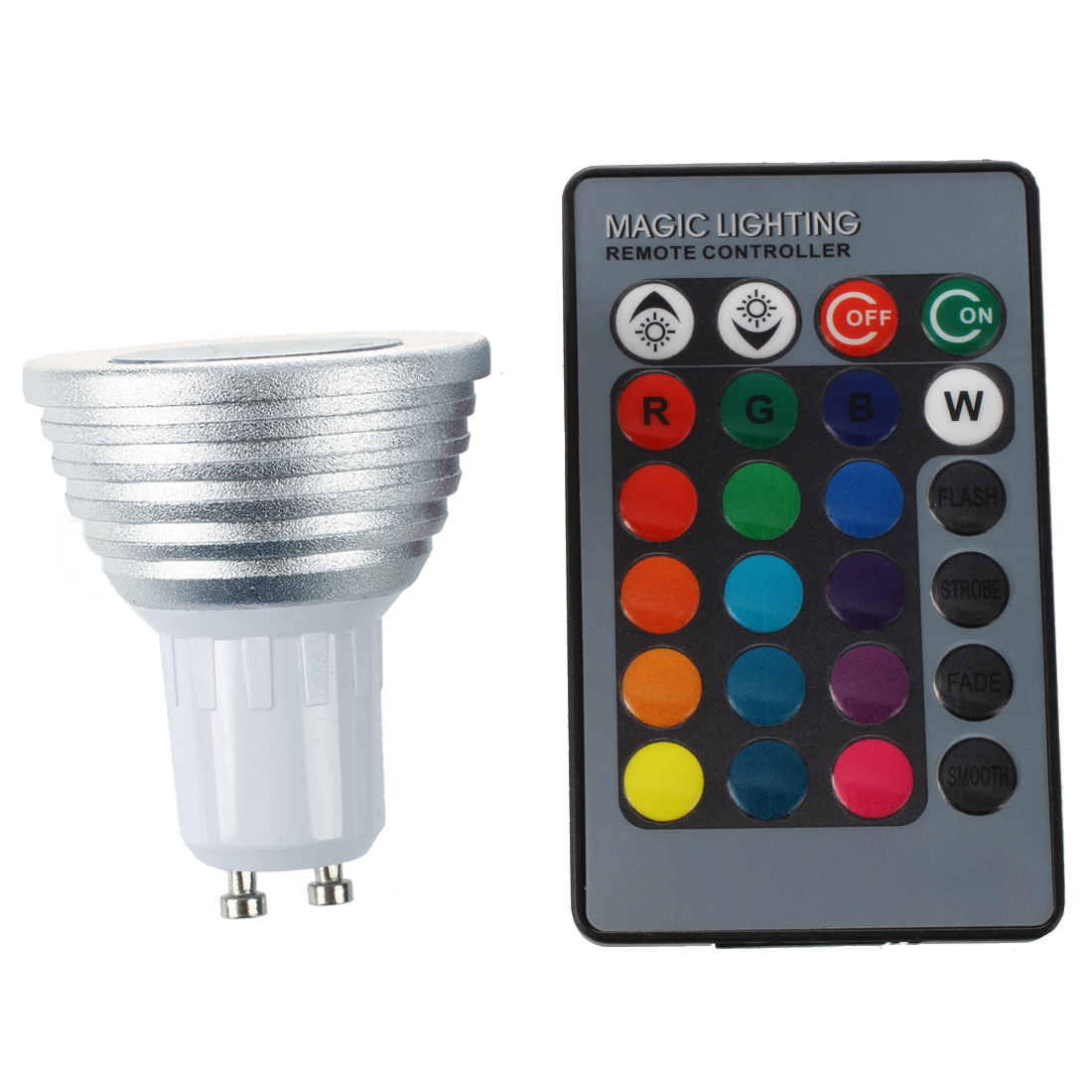 GU10 3W 16 Color Changing RGB LED Spotlight Light Lamp IR Remote Control