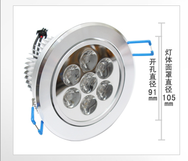 Fast Shipping 1pcs/lot High Quality Epistar 7W LED spot light for home decorate LED AC85-265V spot light