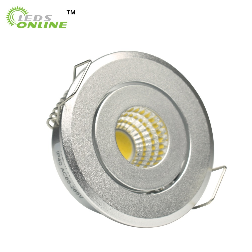 MINI downlights cob with Drivers AC85-265V Showcase Jewery Cabinet Lighting Black White Silver shell led cob downlight 10pcs/lot