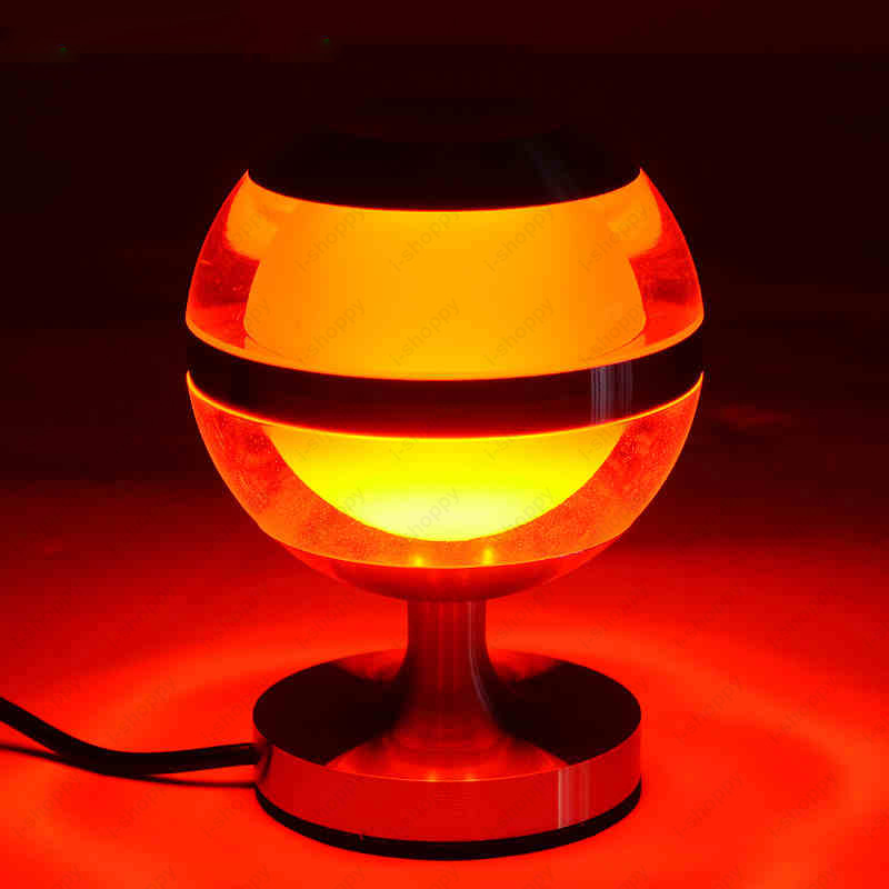 3W Table Reading Book Light Sphere Crystal Bedside Lamp On/Off Switch+Plug Coffee Shop Hotel