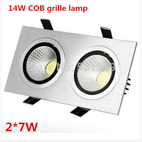 5pcs Freeshipping 14W Ceiling type,LED Grille lamp,7*2W COB led ceiling  lamp
