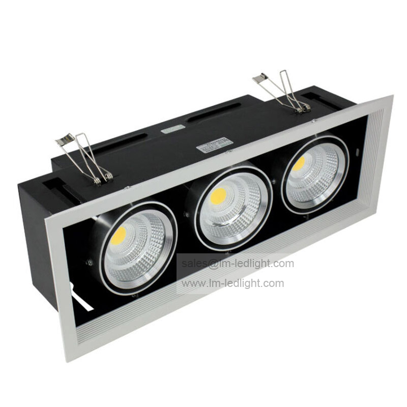 Dimmable AR80 3*10W LED Bean Pot Light 30W COB LED Grille Lamp High light  LED Bean Gallbladder Lamp Warranty 3 Years