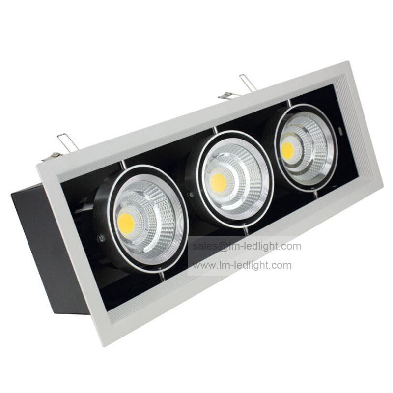 Dimmable 3x10w Led Downlight High Brightness 30W LED COB Recessed Ceiling Lamps Warm/Cool white AC85-265V Indoor lamp