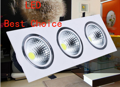 high power aluminum led cob dimmable ceiling light AC110V-230V 7W 12W 16w 20W square cob led downlight
