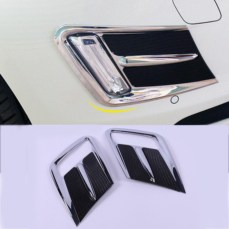 Car styling front fog lamps cover grille slats car fog lights cover decoration ABS Stickers strips for Volvo XC60 2014-2016 Year