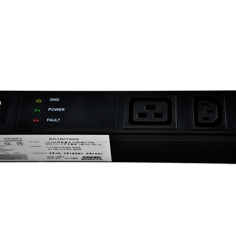 TOWE EN16/I705S 16A 7 WAYS IEC320 C13 PDUs Cabinet socket  Power distribution Unit WITH SPD