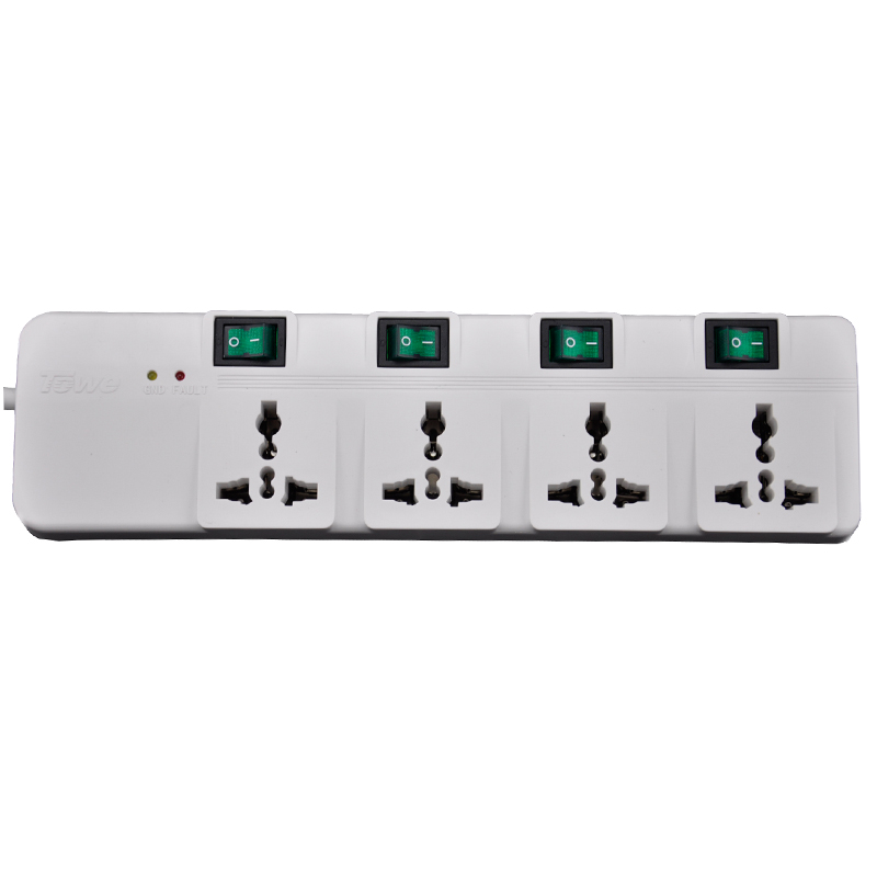 TOWE AP-4014S 4 universal slot GB2099.3 single control socket wiring board anti-interference surge filter thunder protector
