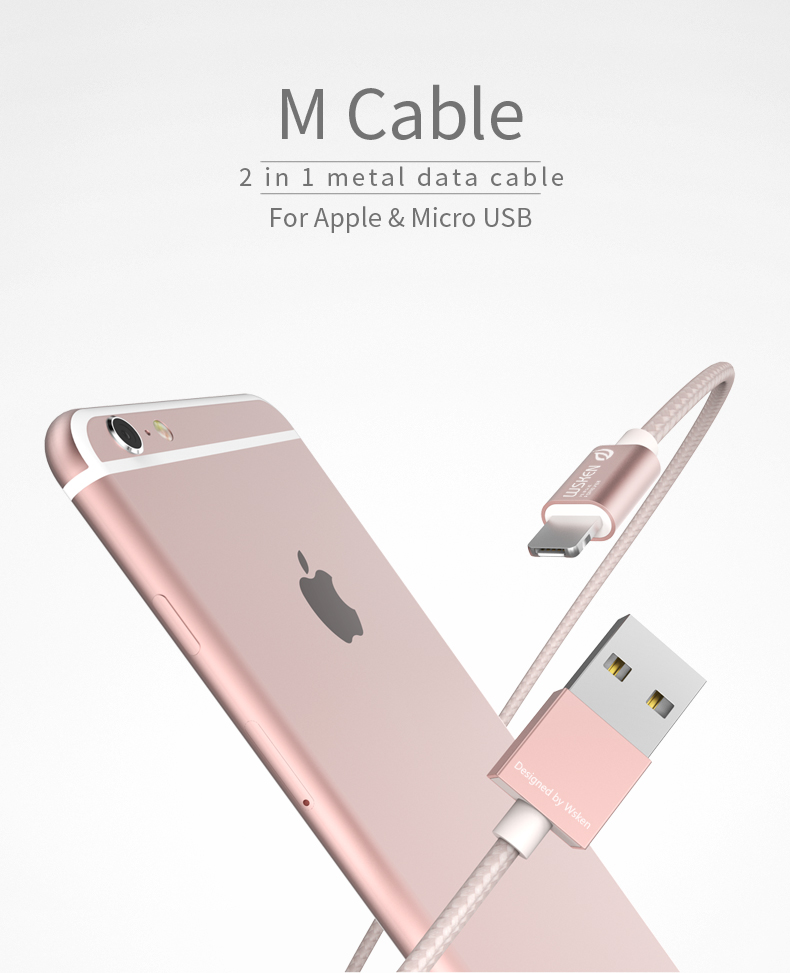 WSKEN Micro USB iphone data cable (1)