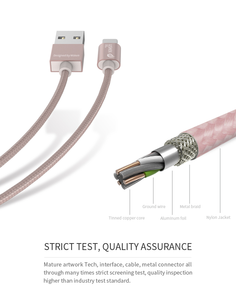 WSKEN Micro USB iphone data cable (9)
