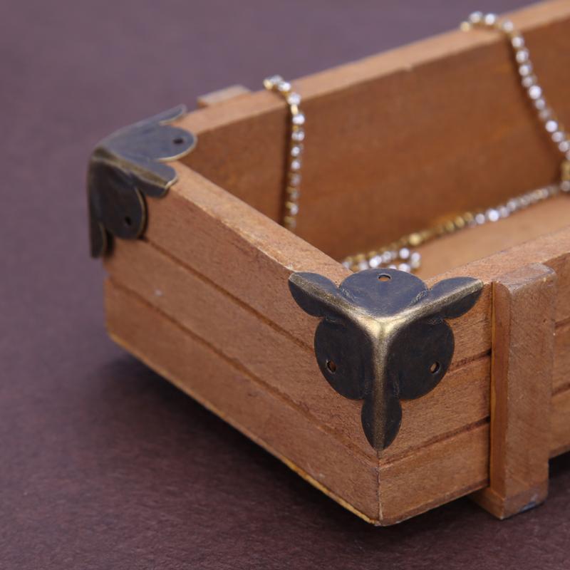 40*40*55*1mm Hardware Vintage Corner Protectors Jewelry Box Decorative Antique