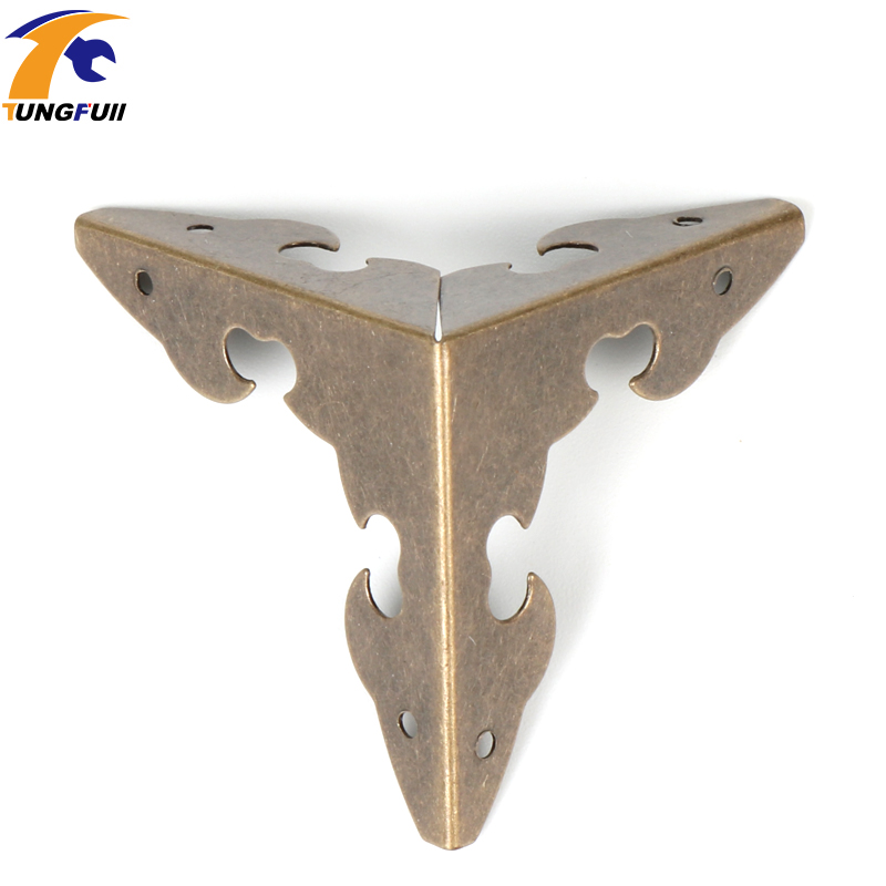 12pcs Antique Bronze/Golden Decorative Metal Corner Brackets Wooden Jewelry Box Feet Leg Corner Protector With Screws 30x30x30mm