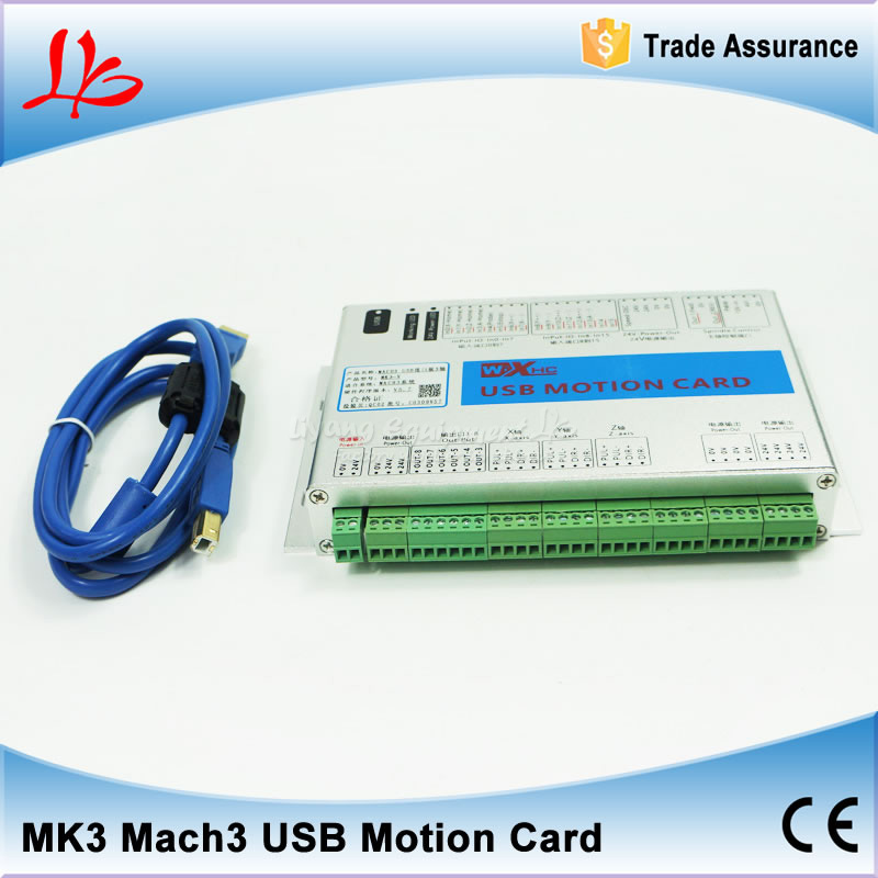 3 axis USB mach3 motion control card three axis breakout interface board for CNC router