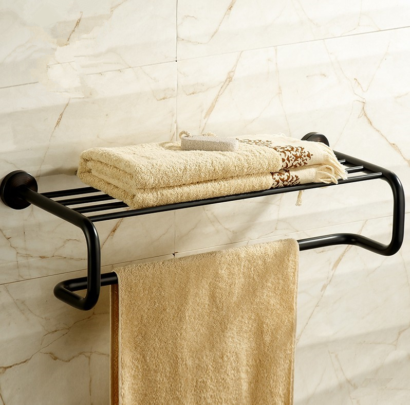 High Quality Brass Material Antique Black  Finish Design Towel Rack,Bathroom Accessories Towel Bars Shelf, Vintage Towel Holder