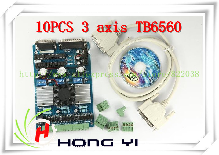 10PCS 3 axis TB6560 3.5A CNC engraving machine stepper motor driver board 16 segments stepper motor controller
