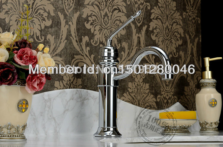 single lever basin mixer tap faucet chrome color two handle ceramic disc lavatory high grade brass copper hotel bathroom classic